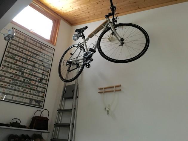 自転車収納上下